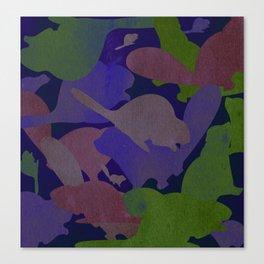 Technicolour Beaverflauge Canvas Print