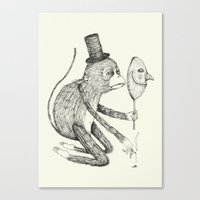 mask Canvas Prints featuring 'Mask' by Alex G Griffiths