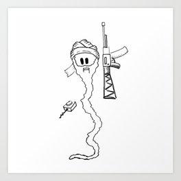 Osama Sperm Laden Art Print
