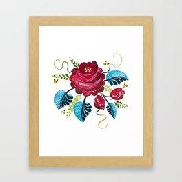 Röd Blomma Framed Art Print