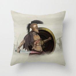Dust & Bronze Throw Pillow