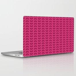 Magenta Red Plum Leaves Laptop & iPad Skin