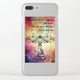 Zen Art Inspirational Buddha Quotes Life Clear iPhone Case