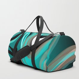 Liquify 2 - Brown, Turquoise, Teal, Black, White Duffle Bag