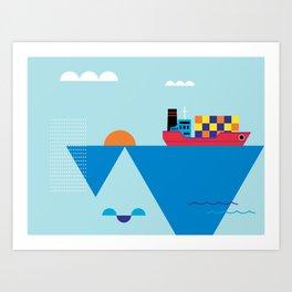 Blue Cosmopolitan Art Print