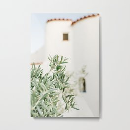 Olive Tree. White Spanish House in Alicante, Spain. Minimalistic print - fine art photography Metal Print