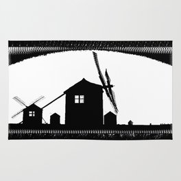Windmill At Dusk Rug