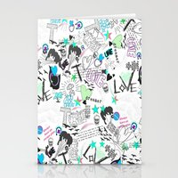 cartoon Stationery Cards featuring Cartoon Pattern by Eduardo Doreni