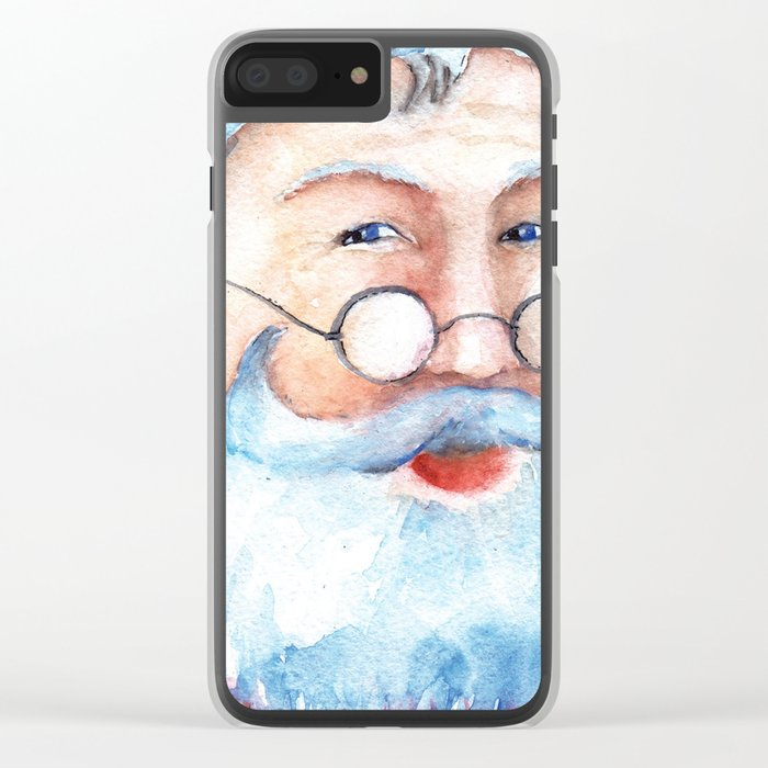 Santa Claus #2 Clear iPhone Case