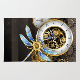 Dials with Dragonfly ( Steampunk ) Rug