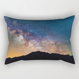 Mountain Galaxy (Color) Rectangular Pillow
