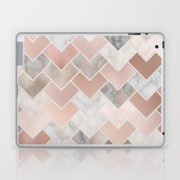 Rose Gold and Marble Geometric Tiles Laptop & iPad Skin