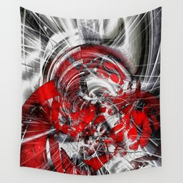 Blind in the storm Wall Tapestry