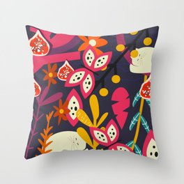 Bright nap time Throw Pillow