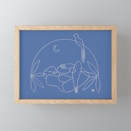 Dreamers no.2 (blue) Framed Mini Art Print