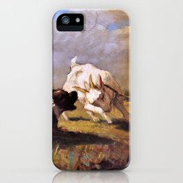 Goat And Dog Are Fighting - Digital Remastered Edition iPhone Case