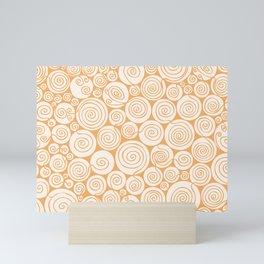 Waiting For Spring Orange Pattern Mini Art Print