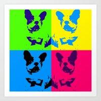 doge Art Prints featuring doge by vidikay