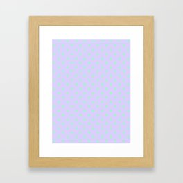 Magic Mint Green on Pale Lavender Violet Stars Framed Art Print