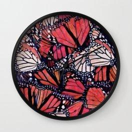 Monarch Butterflies II Wall Clock