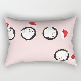 Mr P. The Christmas Penguin Rectangular Pillow