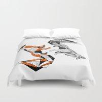 literature Duvet Covers featuring literature fox 2 by vasodelirium