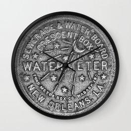 New Orleans Water Meter Louisiana Crescent City NOLA Water Board Metalwork Grey Silver Wall Clock