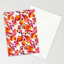 Vintage watercolor autumn leaves Stationery Cards