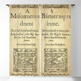 Shakespeare. A midsummer night's dream, 1600 Blackout Curtain
