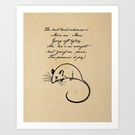 To a Mouse - Robert Burns - Mice and Men Art Print