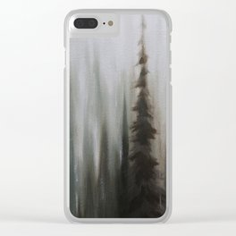 Pacific Northwest Forest oil painting by Jess Purser Clear iPhone Case