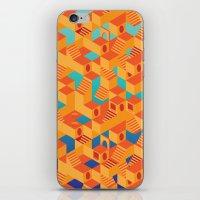escher iPhone & iPod Skins featuring Escher cube by Tony Vazquez