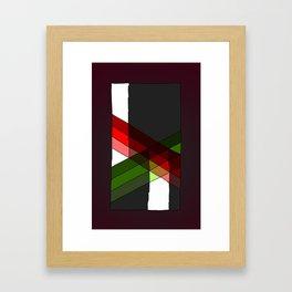 Argyle Extrapolation Framed Art Print