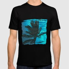 Swimming Palm Black MEDIUM Mens Fitted Tee