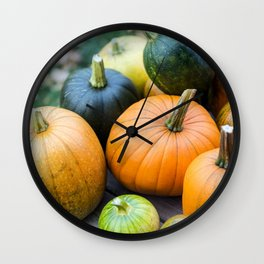 Pumpkin Harvest 7 Wall Clock