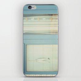 Beach Hut window - blue iPhone Skin