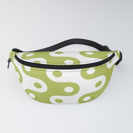 Mid Century Modern Chain Pattern Chartreuse Fanny Pack