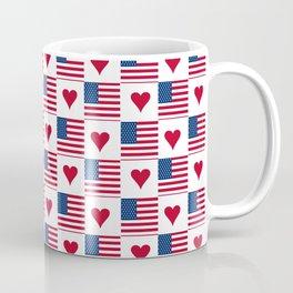 flag of the usa 9 with heart Coffee Mug