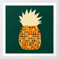pineapple Art Prints featuring Pineapple by Picomodi