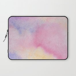 Abstract artistic hand painted pink lavender watercolor Laptop Sleeve