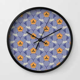 Royal Bluebell Wall Clock