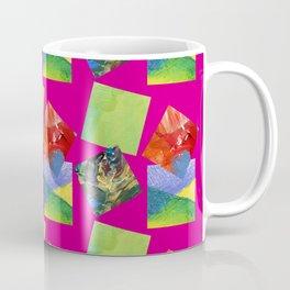 Painted Squares Jiggle - Pink Coffee Mug