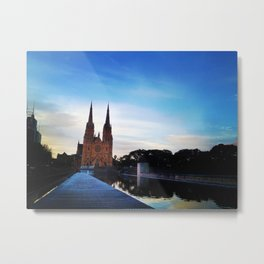 Cathedral at dusk Metal Print