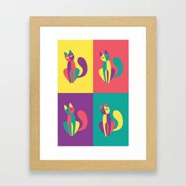 Pop goes the kitten Framed Art Print