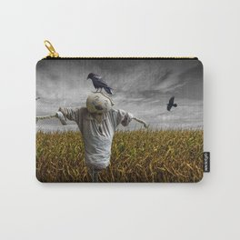 Scarecrow with Black Crows over a Cornfield Carry-All Pouch