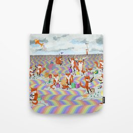 donna's birthday fox party Tote Bag