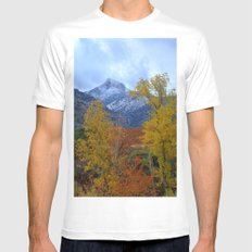 Fall mountains. Misty Trevenque MEDIUM White Mens Fitted Tee