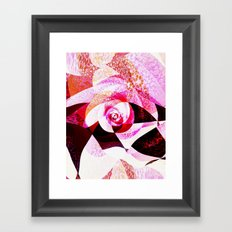 Raspberry chocolate Framed Art Print