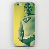 obama iPhone & iPod Skins featuring super obama by fotografismi.com