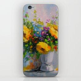 Bouquet de fleurs jaunes iPhone Skin